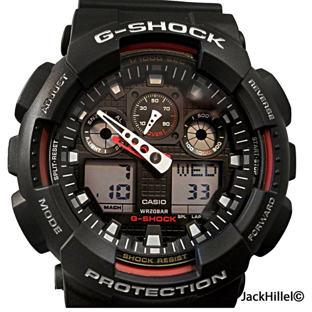Casio gshock ga100 1a4 g shock mens sports watch ebay for Watches g shock