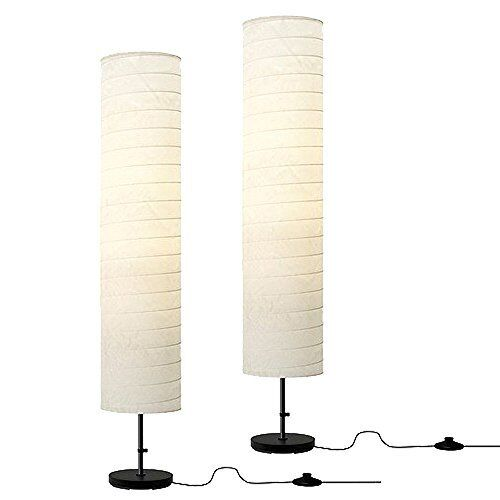 "Living Room Lamp Shades: 46"" Tall White Floor Lamps"
