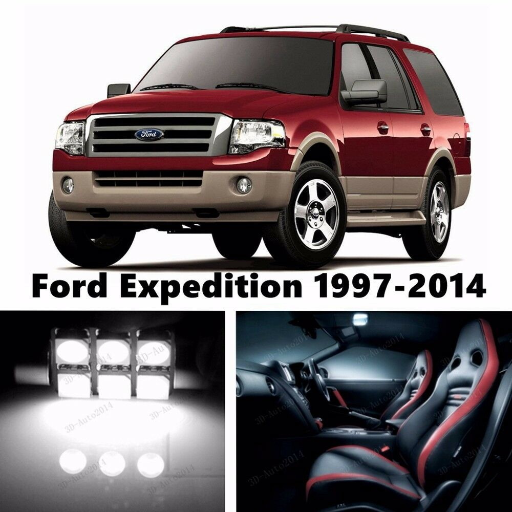 16pcs led xenon white light interior package kit for ford expedition 1997 2015 ebay for 2004 ford expedition interior parts