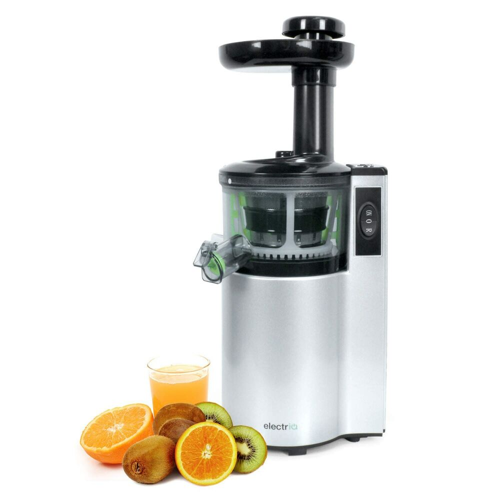 Andrew James Professional Masticating Slow Juicer : ElectriQ vertical Slow Masticating Juicer Fruit vegetable Juice Extractor eBay