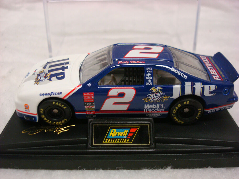 Rusty Wallace Ford >> NASCAR RUSTY WALLACE #2 MILLER LITE 1998 FORD TAURUS 1:64 WITH CASE BY REVELL | eBay