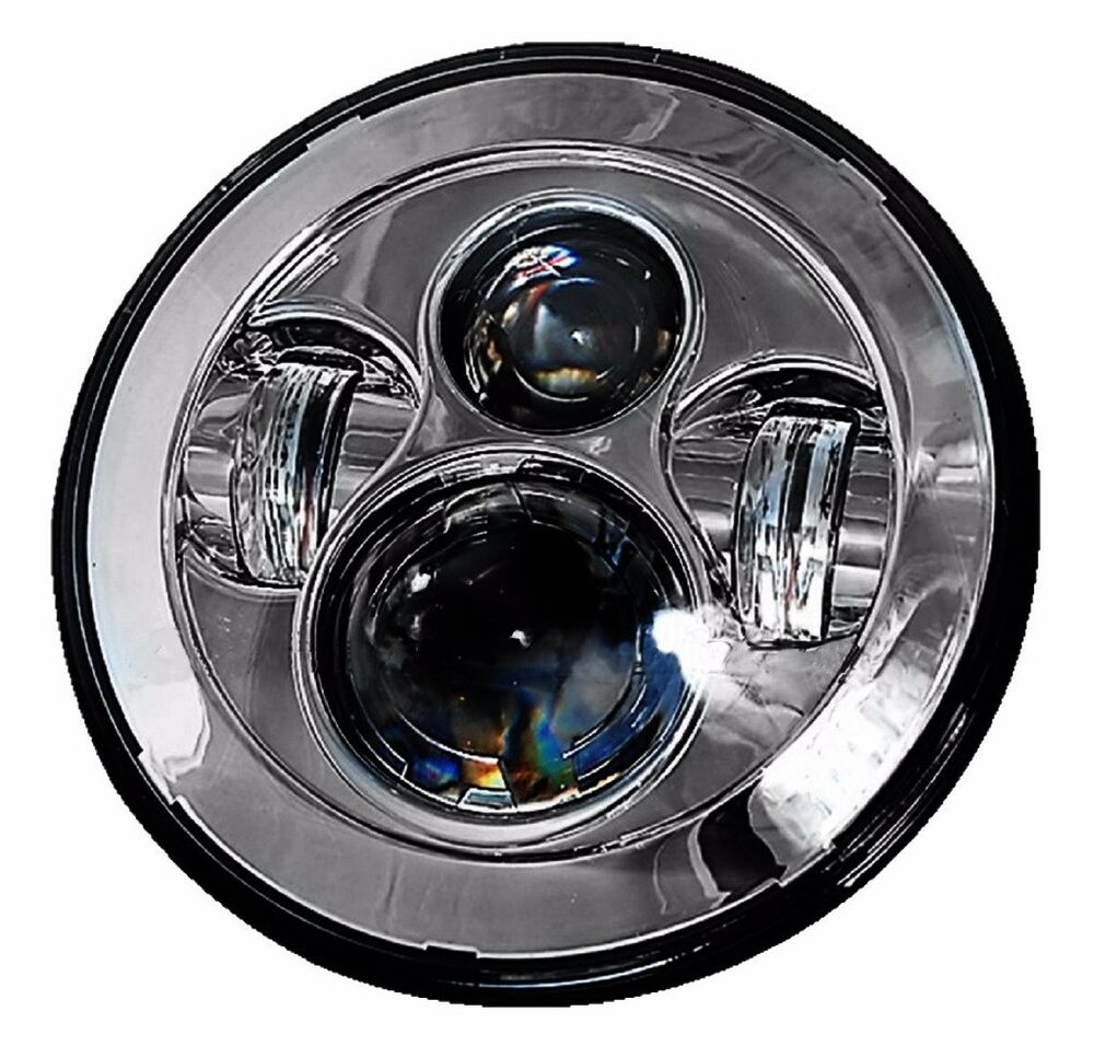7 motorcycle projector hid led light bulb headlight for. Black Bedroom Furniture Sets. Home Design Ideas