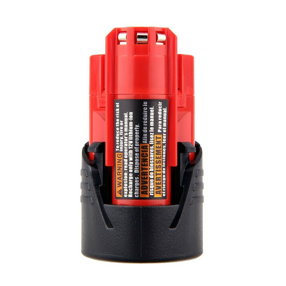 power tool replace battery for milwaukee m12 12v 12 volt 48 11 2401 lithium ion ebay. Black Bedroom Furniture Sets. Home Design Ideas