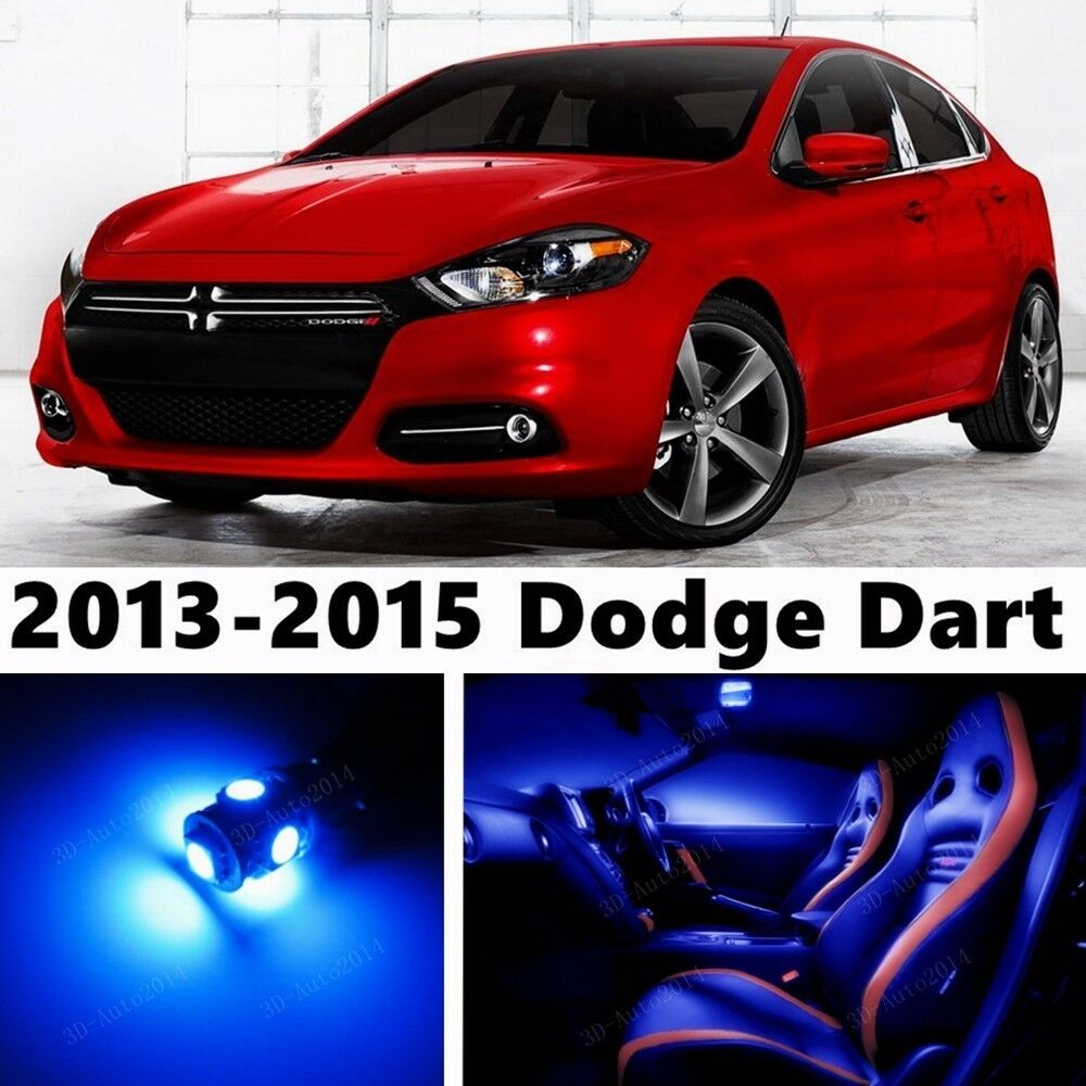 13pcs led blue light interior package kit for dodge dart. Black Bedroom Furniture Sets. Home Design Ideas