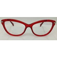 MAX MARA MM 1202 S48 RED PLASTIC EYEGLASSES FRAME 55-16-140 NEW RX AUTHENTIC