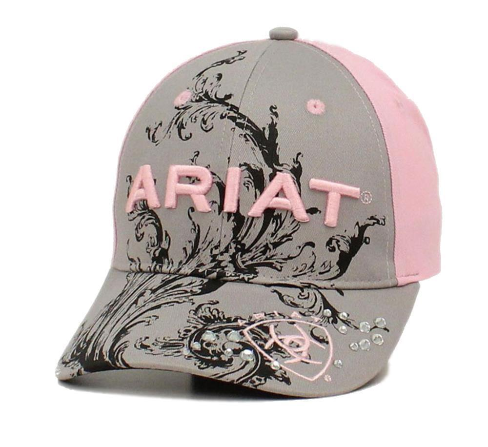 Ariat Womens Hat Baseball Cap Scroll Logo One Size Gray