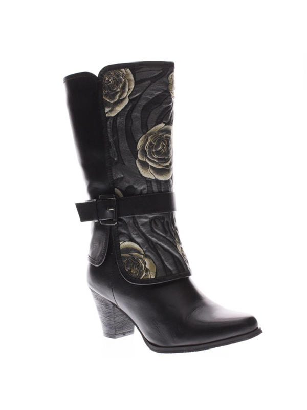 l artiste canzone womens italian leather boots black