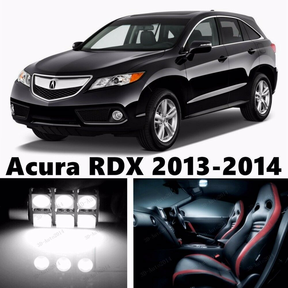 12pcs LED Xenon White Light Interior Package Kit For Acura