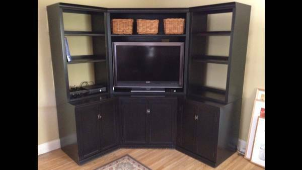 pottery barn entertainment center ebay. Black Bedroom Furniture Sets. Home Design Ideas