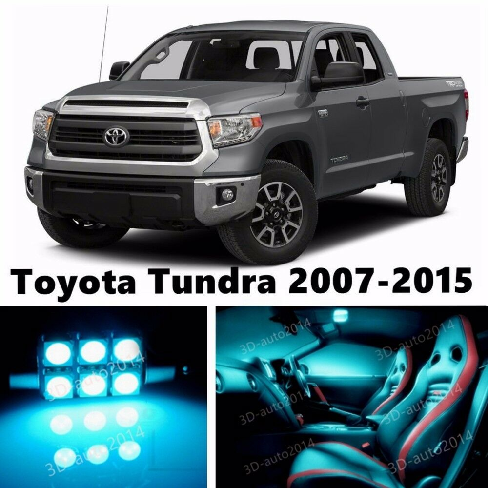 16pcs Led Ice Blue Light Interior Package Kit For Toyota Tundra 2007 2015 Ebay