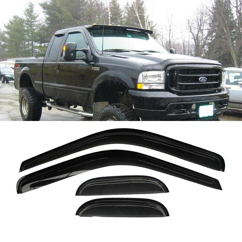 DOBI 4pc Vent Shade Window Visors 99-16 F250/F350/F450