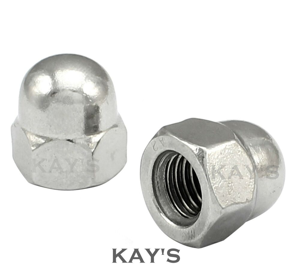 Unf dome nuts a stainless steel hex acorn quot