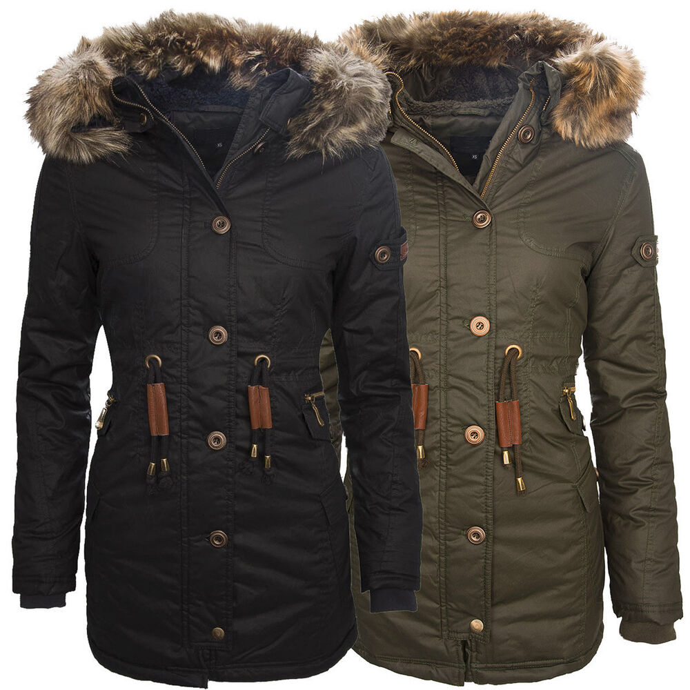 warme damen winter jacke parka mantel winterjacke. Black Bedroom Furniture Sets. Home Design Ideas