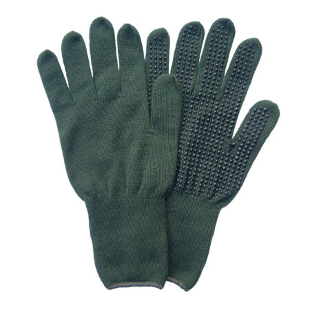 img-ARAMID OLIVE GREEN COMBAT GLOVES - Rubber palms , SIZES , British Army Issue
