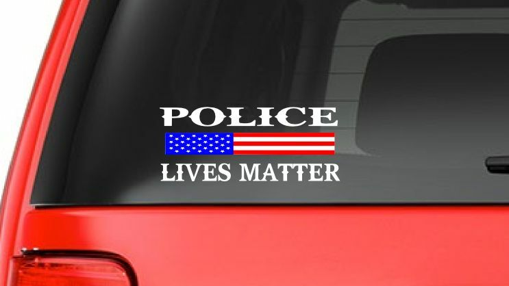 Police Lives Matter S10 Blue Line Cop Usa Vinyl Decal