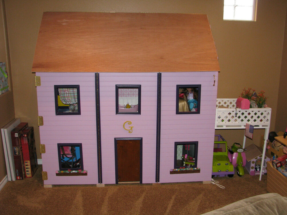 American Girl Dollhouse 18 Doll Sized PLANS for Dollhouse eBay