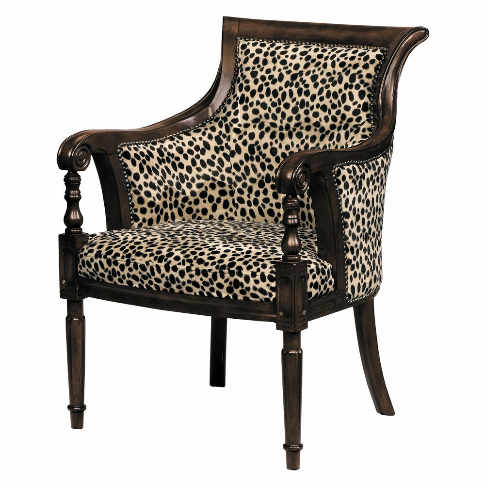 accent furniture lena animal print barrel back chair home decor accent