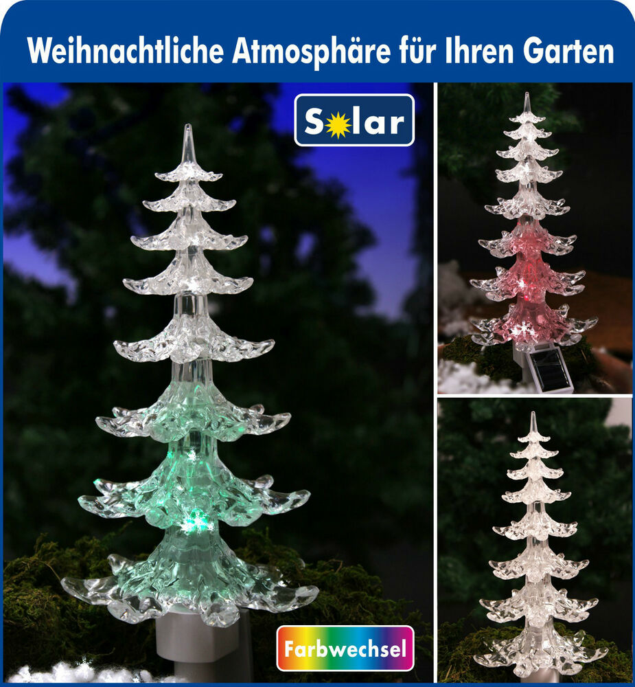 led weihnachtsbaum solar mit farbwechsler xmas. Black Bedroom Furniture Sets. Home Design Ideas