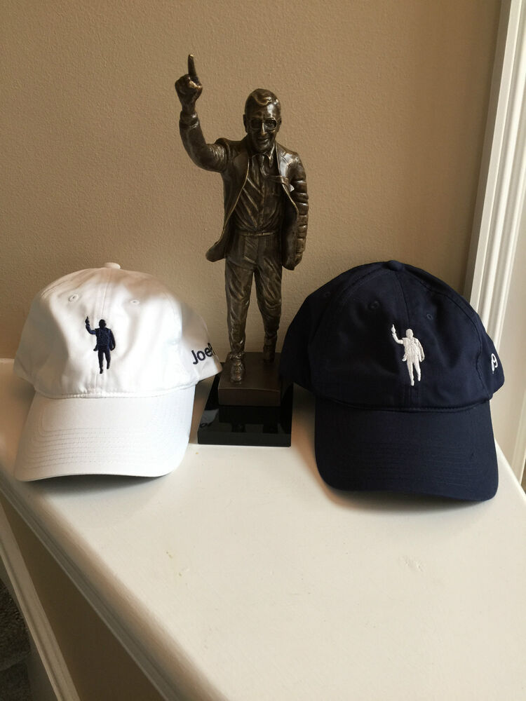 c65e8bf4cc0 Joe Paterno Statue Image on a Nike Hat 409 PENN STATE - WE ARE - Navy or  White