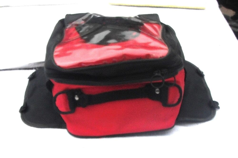Magnetic Motorcycle Bike Tank Bag Travel Red Amp Black Our