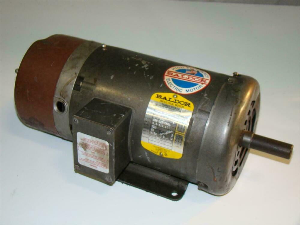 Baldor Electric Brake Motor 1 1 2hp 230 460v Bm3554t 145t