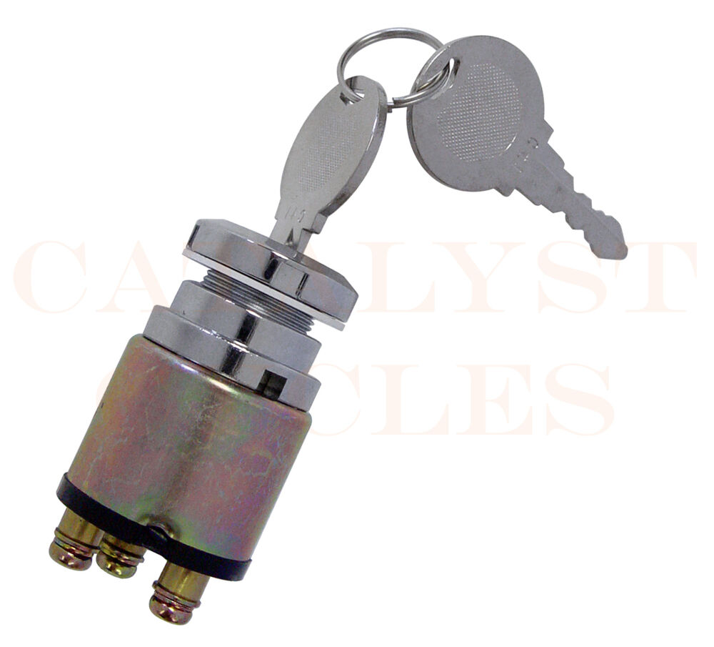 chrome 3 position ignition switch for harley fx  fxr
