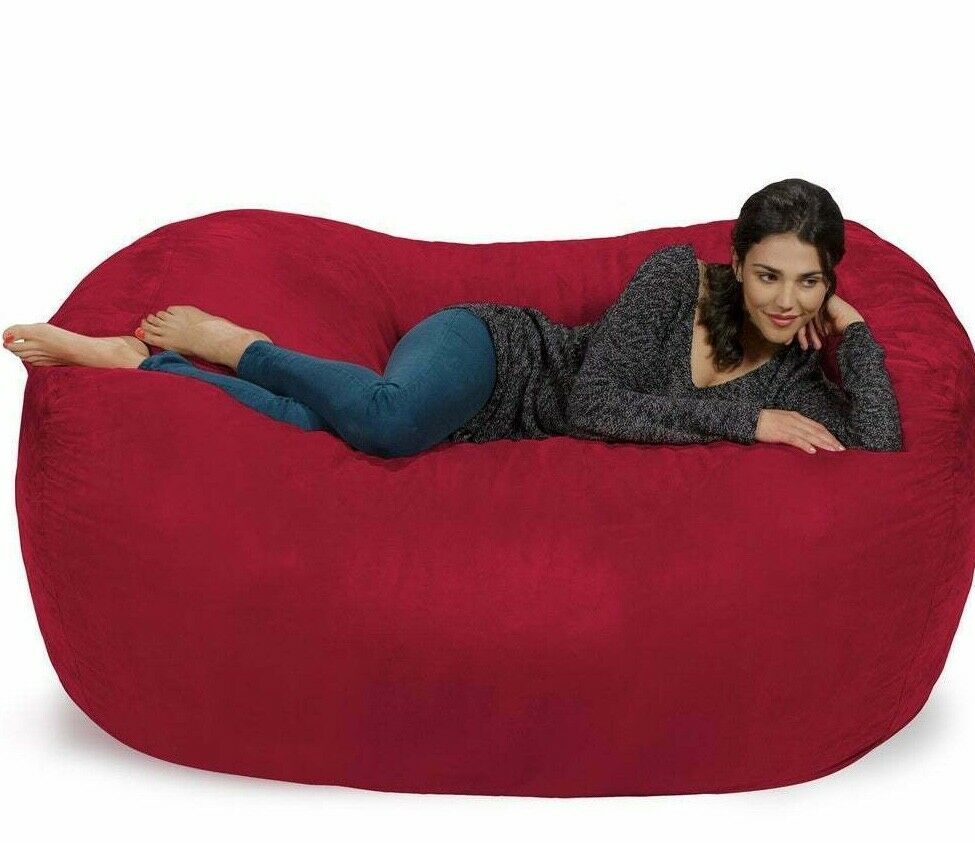 Large Soft Red Bean Bag Beanbag Chair Huge 7 Adult Size