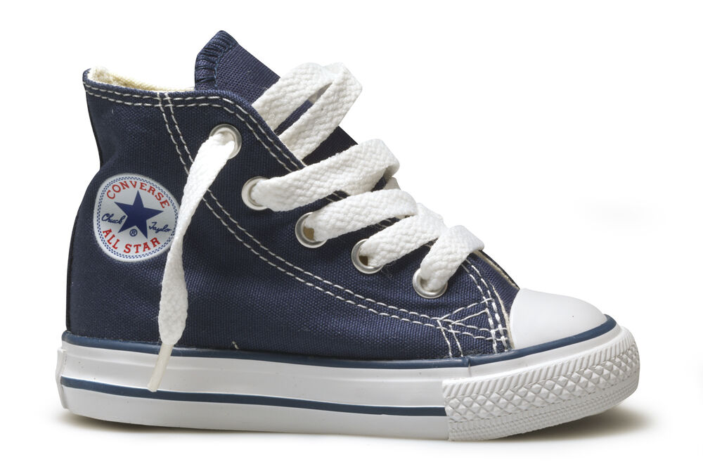 Converse Hi Top Navy Blue White Baby Infant Toddler Boys