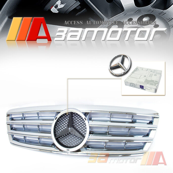 Chrome front hood grille for 2001 2007 mercedes benz w203 for Mercedes benz chrome accessories