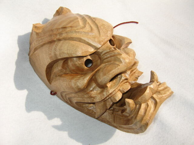 Handcrafted Traditional ONI Mask (Japanese Demon) | eBay