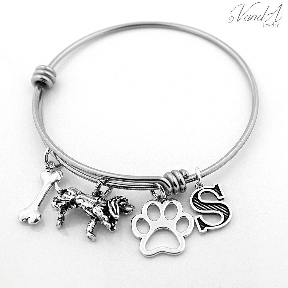 Expandable Charm Bracelets: Expandable Stainless Steel Bangle Bracelet W/ Sterling