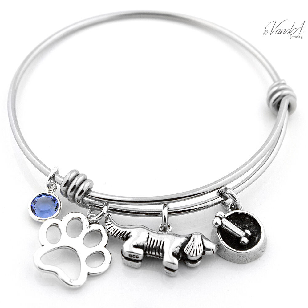 Expandable Charm Bracelets: Expandable Stainless Steel Bangle Bracelet Sterling Silver
