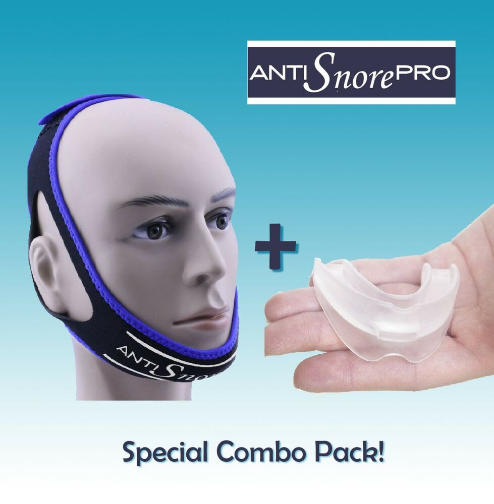 stop snoring mouthpiece sleep apnea night guard tmj   anti snore chin strap belt