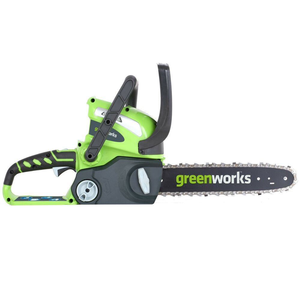 GreenWorks 20292 G-MAX 40V 12-In Battery Powered Chain Saw ...