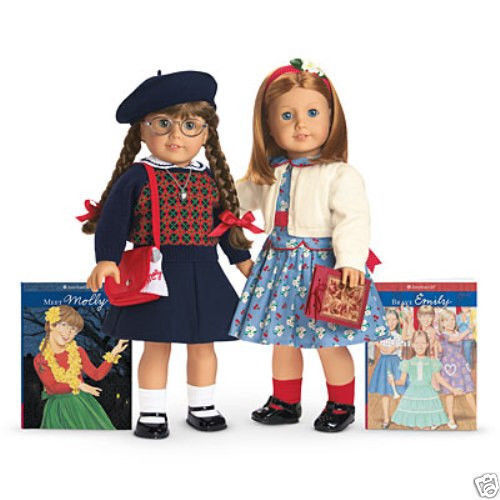 american girl molly emily doll new in box ebay. Black Bedroom Furniture Sets. Home Design Ideas