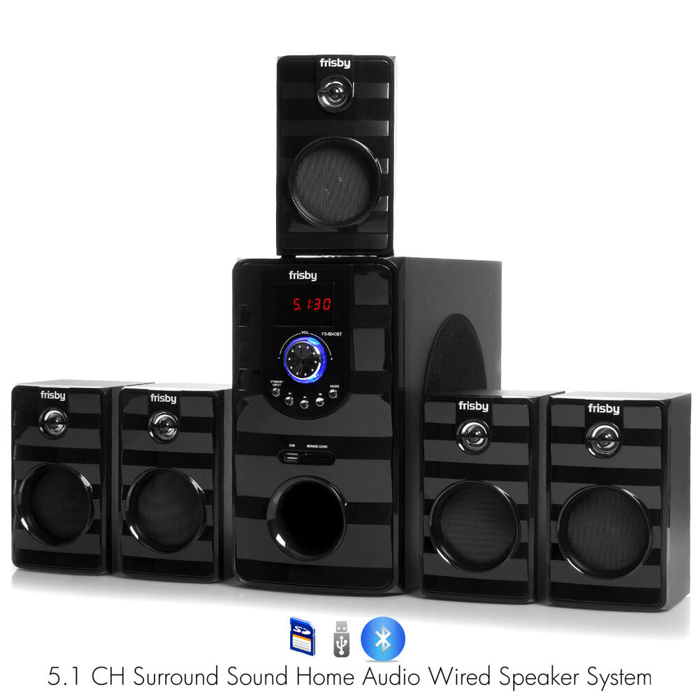 fs5040bt pc laptop computer 800w surround sound 5 1 speaker system w bluetooth ebay. Black Bedroom Furniture Sets. Home Design Ideas