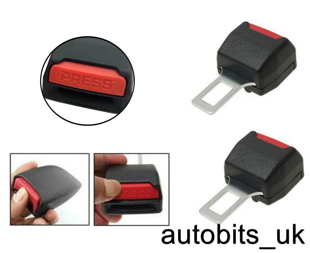 2 x safety alarm stopper canceller car seat belt clip extender support buckle ebay. Black Bedroom Furniture Sets. Home Design Ideas