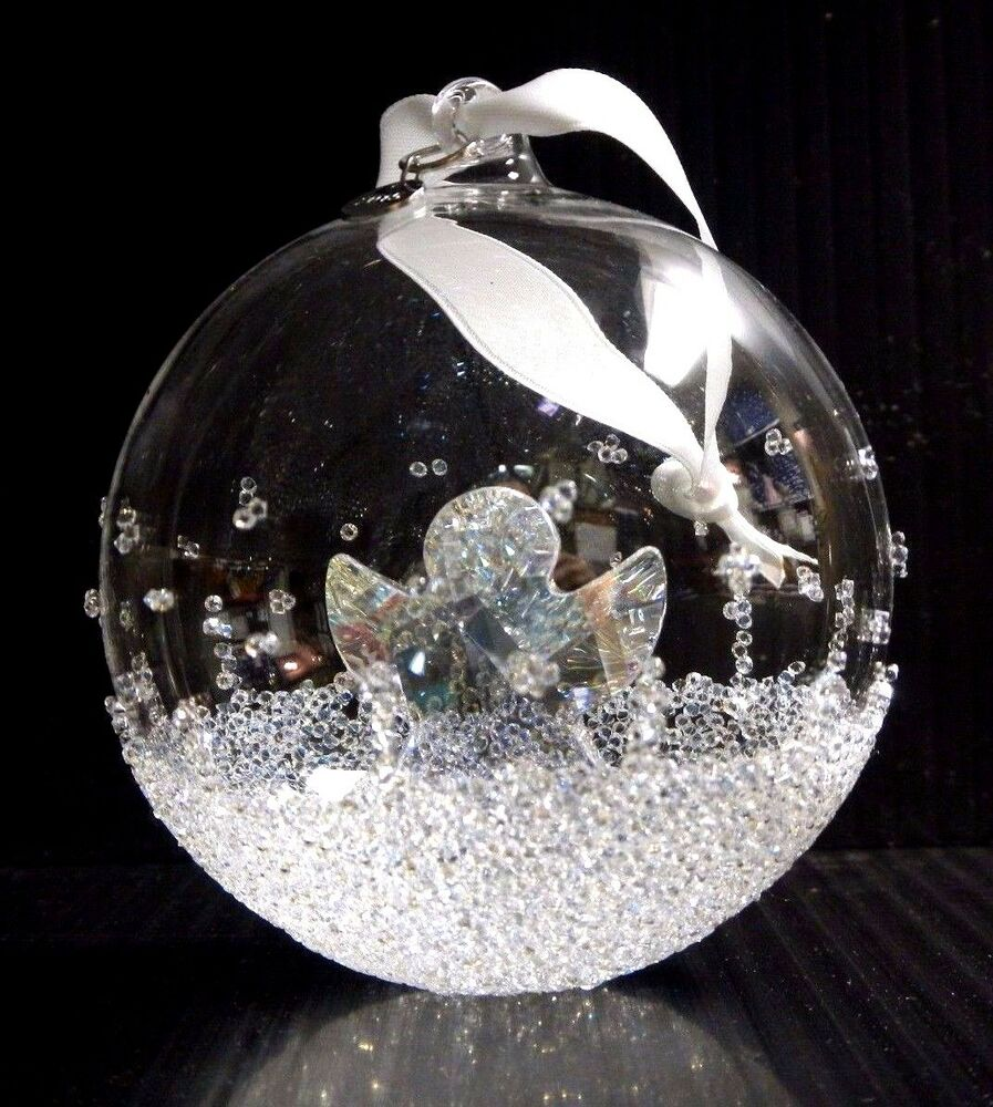 Ball ornament large annual edition 2015 xmas crystal 2015 for Swarovski decoration crystals