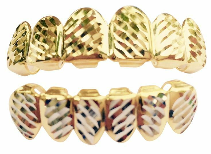 1000 Images About Gold Teeth On Pinterest: Hip Hop 14K Gold Plated Mouth Teeth Grills Grillz Set