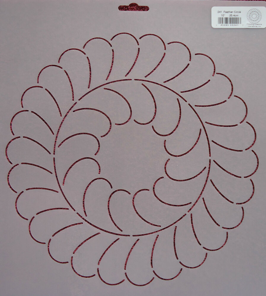 Quilting With Stencils : Stencil Quilting Feather Circle 10