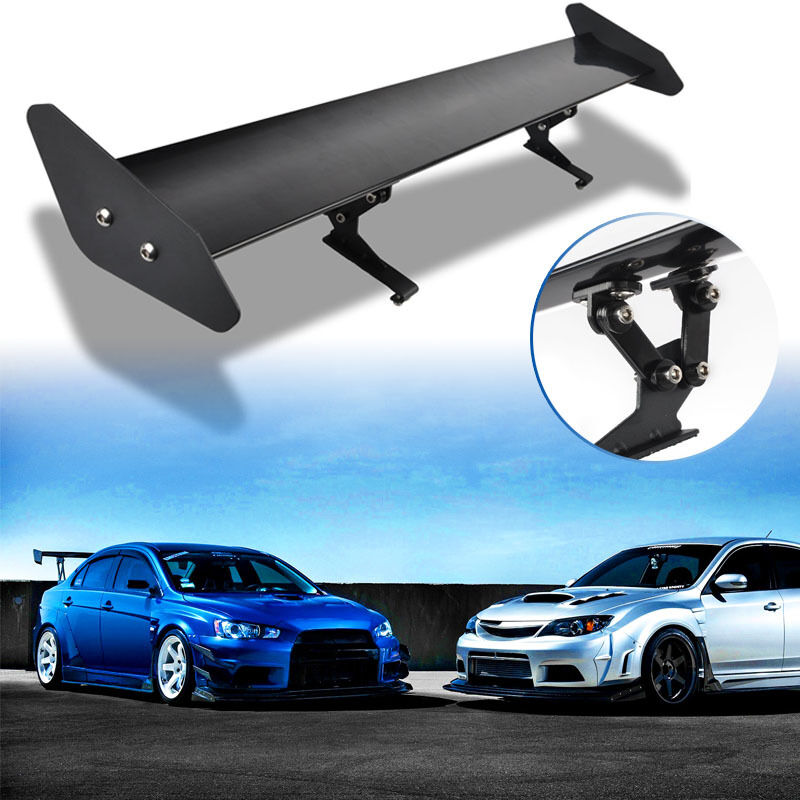 Universal adjustable aluminum auto car rear trunk wing for Wing motors automobiles miami fl