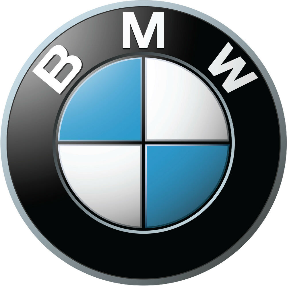 bmw logos large vinyl decal glossy stickers 3 pieces ebay. Black Bedroom Furniture Sets. Home Design Ideas