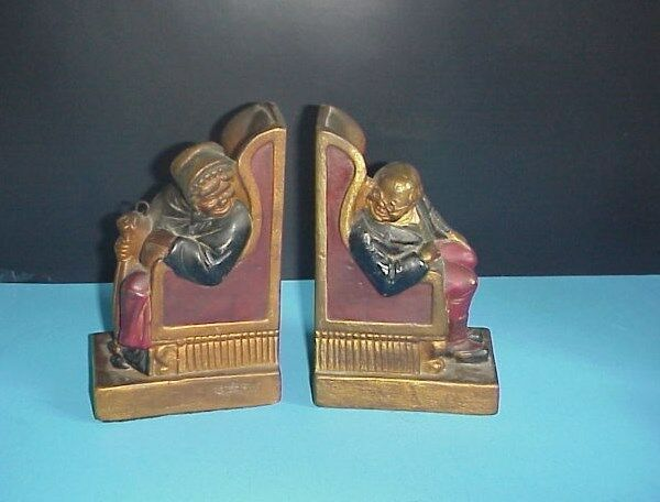 Armor bronze company bookends man women in chairs ebay - Armor bronze bookends ...