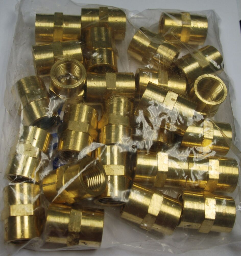 Brass fittings coupling female pipe quot quantity