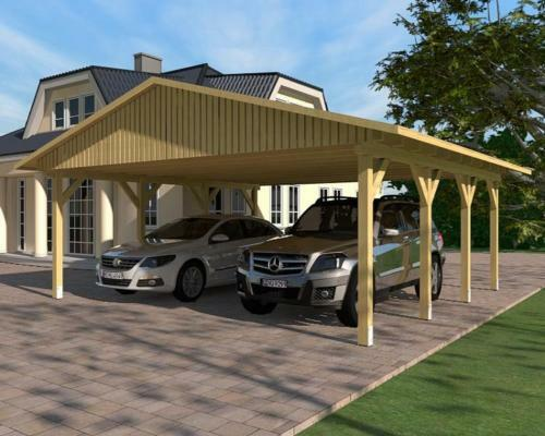 carport satteldach monte carlo v 600x600cm kvh holz ebay. Black Bedroom Furniture Sets. Home Design Ideas