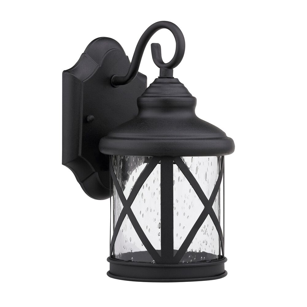 Wall Lantern Light Fixture : Wall Mounted Exterior Outdoor Black Light Fixture House Patio Porch Single Lamp eBay