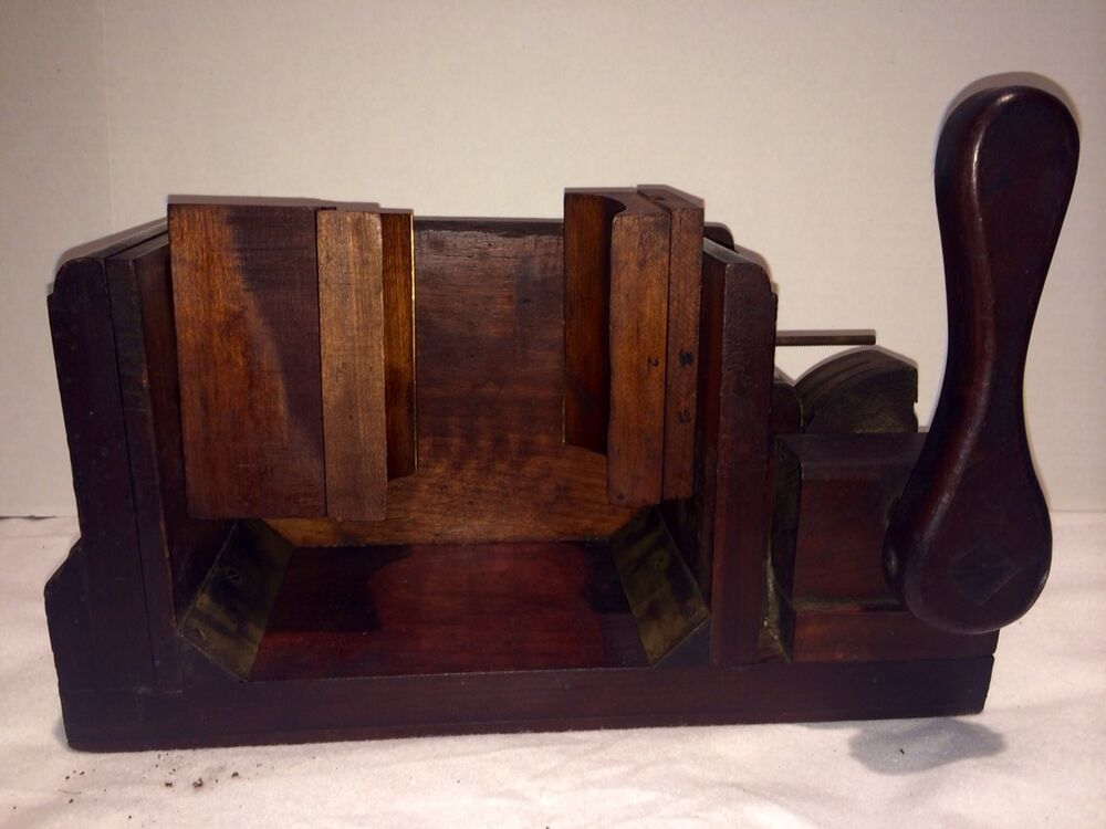 Antique Wooden Furniture Bench Vice Grip Clamp Primitive