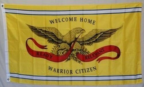 Welcome Home Warrior Citizen Flag 3x5 ft Yellow Troops ...