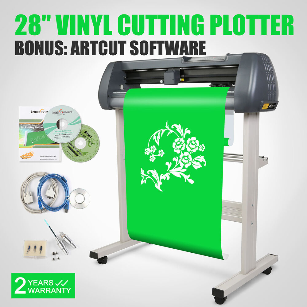 28 vinyl sign sticker cutter plotter with contour cut function cutting machine ebay. Black Bedroom Furniture Sets. Home Design Ideas
