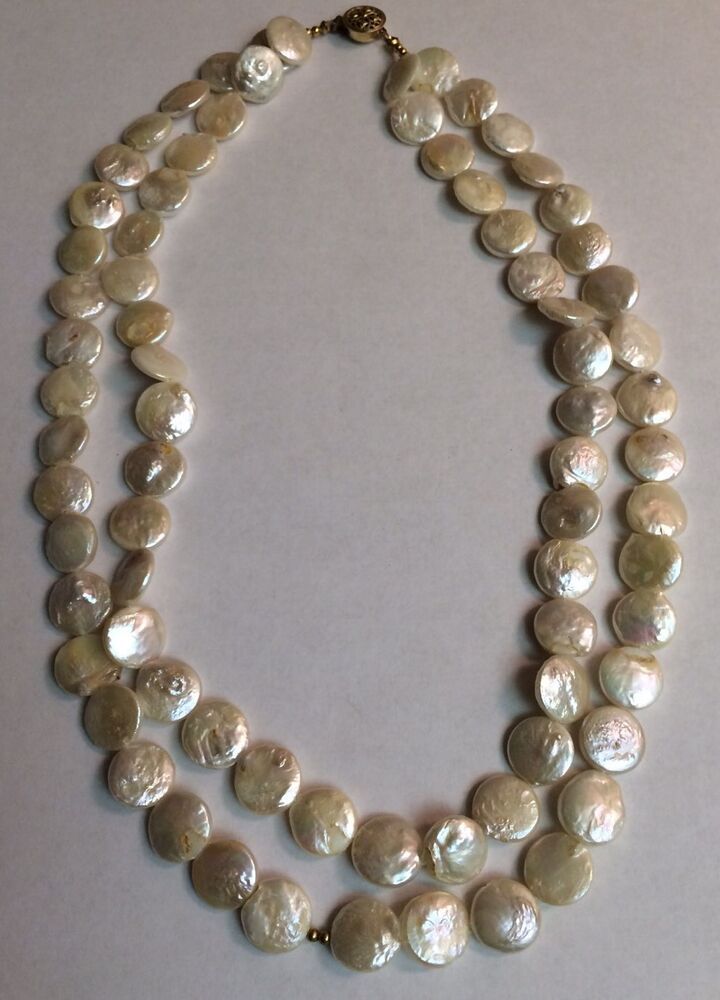 Freshwater Pearl Necklace 1950s 1960s Vintage Antique ...